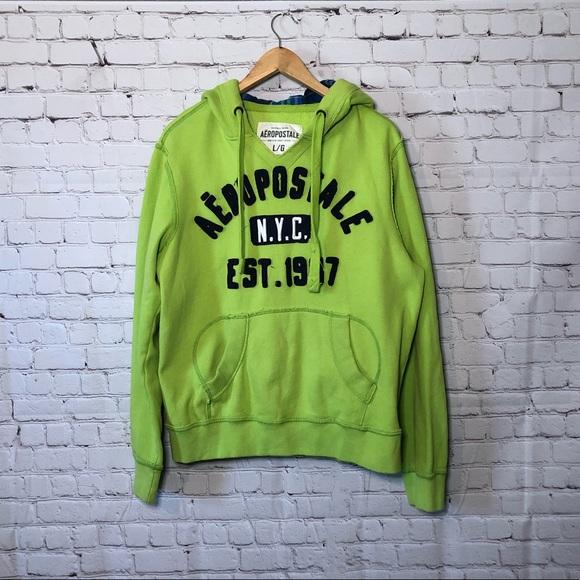 Aeropostale Lime Green Hoodie Sweatshirt Jacket